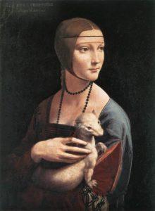 Леонардо да Винчи. Дама с горностаем