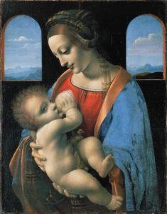 Леонардо да Винчи. Мадонна Литта (Мадонна с младенцем)