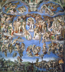 Микеланджело Буонаротти.Фреска «Страшный суд»