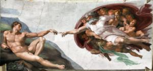 Микеланджело Буонаротти. Фреска «Сотворение Адама