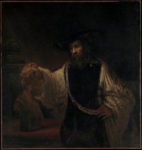 Рембрандт. Аристотель перед бюстом Гомера