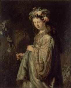 Рембрандт. Саския в образе Флоры