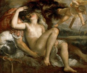 Тициан Вечеллио. Марс, Венера и Амур