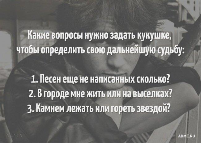 10. Какие вопросы нужно задать кукушке