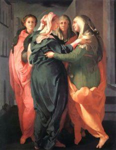 Якопо Каруччи (Понтормо). Встреча Марии и Елизаветы