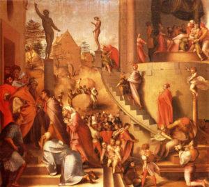Якопо Каруччи (Понтормо). Иосиф с Иаковом в Египте