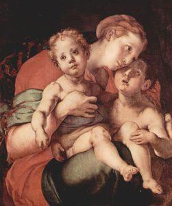 Якопо Каруччи (Понтормо). Мадонна с Иоанном Крестителем