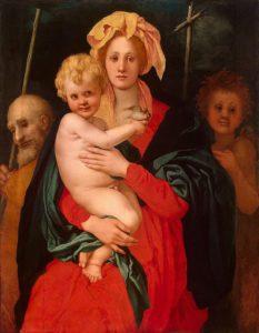 Якопо Каруччи (Понтормо). Мадонна с Младенцем, святым Иосифом и Иоанном Крестителем