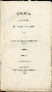 Джейн Остин. Эмма. Первое издание
