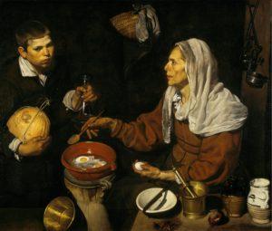 Диего Веласкес. Старуха, жарящая яйца