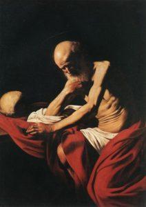 Караваджо. Святой Иероним в размышлении