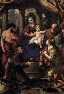 Пьетро да Кортона. Богородица с младенцем и святые