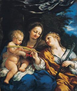 Пьетро да Кортона. Богородица с младенцем и св. Мартина