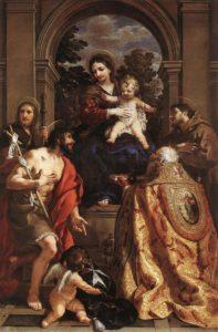 Пьетро да Кортона. Дева Мария и святые