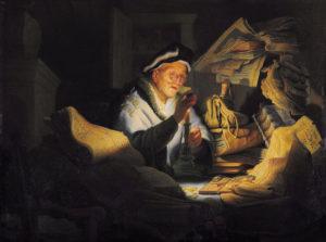 Рембрандт. Притча о неразумном богаче