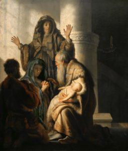 Рембрандт. Симеон и Анна в Храме