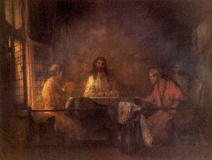 Рембрандт. Христос в Эммаусе