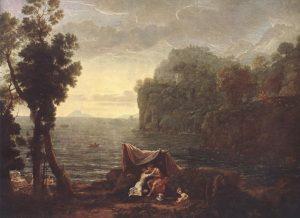 Клод Лоррен. Пейзаж с Ацисом и Галатеей