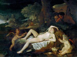 Никола Пуссен. Спящая Венера и пастухи