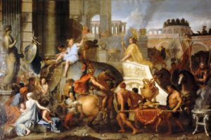 Шарль Лебрен. Вступление Александра в Вавилон