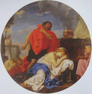 Шарль Лебрен. Жертвоприношение Иевфая