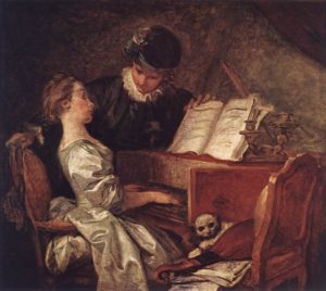 Жан Оноре Фрагонар. Урок музыки
