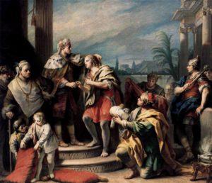 Якопо Амигони. Иосиф в палатах фараона