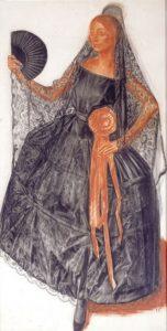 Яковлев А.Е. Танцовщица в испанском костюме