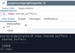 shared_buffers. show