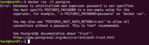 postgres run error