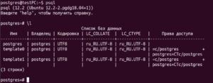 psql interface