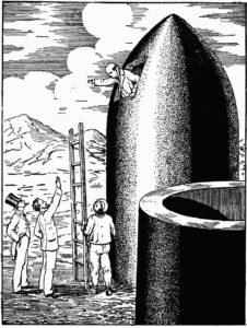 Из пушки на Луну. Иллюстрация