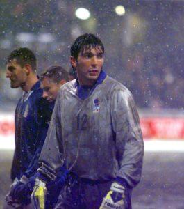 Буффон дебютировал за Италию в 1997 году в отборочном матче чемпионата мира против России в Москве